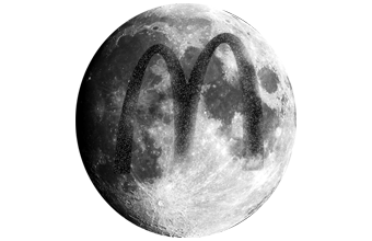 Moon's surface scarred by 'reckless' McDonald's laser advert