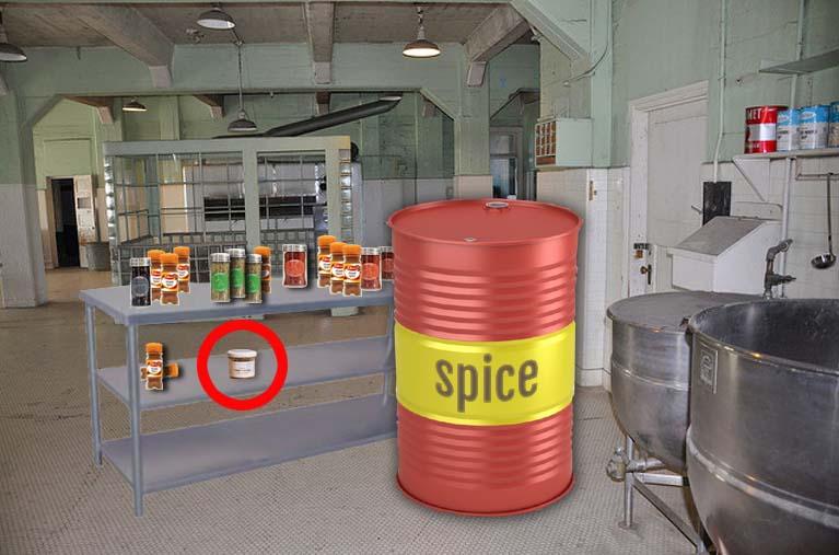 Banned spice seized in Prison kitchen