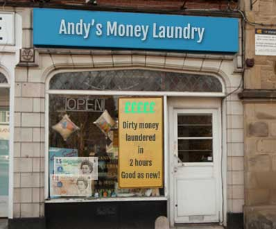 Police raid Leeds money laundering shop and seize dirty notes