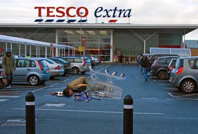 Tesco using 'tactical contact' ramming to bring down shoplifters