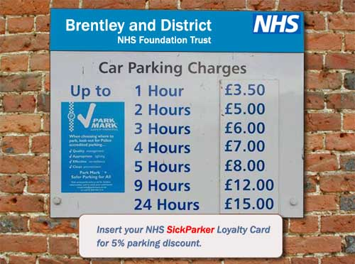 NHS Hospital introduces parking discount card