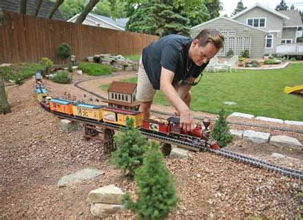 Man's obsession with building high speed model railway bankrupts family