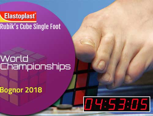 Suffolk man smashes one-footed world record for Rubik's cube