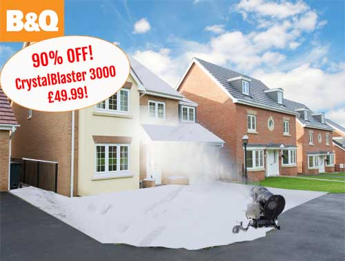 B&Q slash price of home snow-maker to £49.99