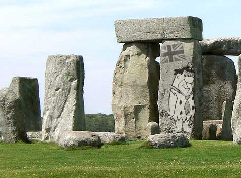 Banksy art appears overnight on Stonehenge monument