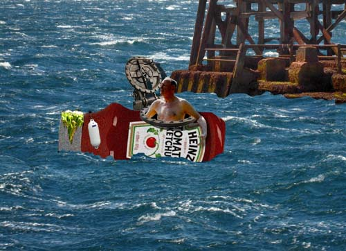 Sussex man attempts first Atlantic crossing in a ketchup bottle