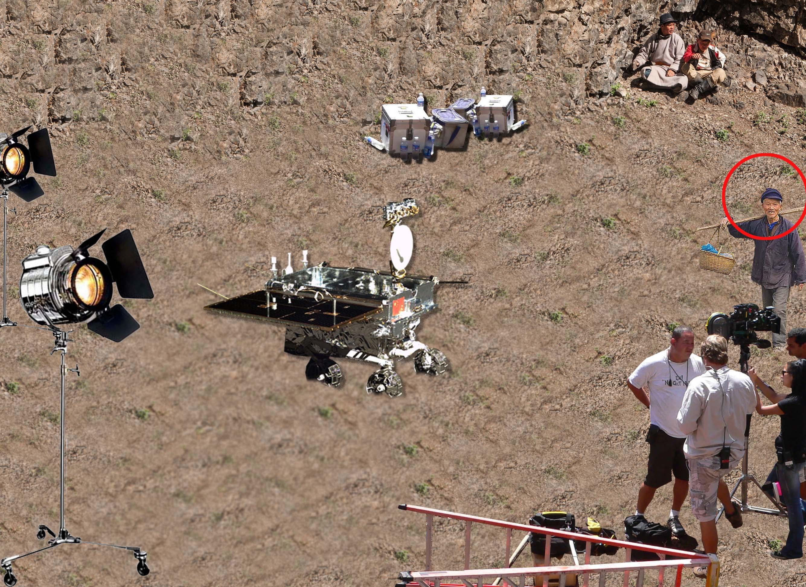 Chinese moon landing 'is a hoax' claims Gobi farmer