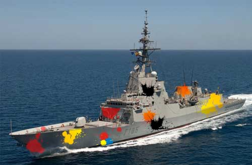 Order not to attack Spanish Navy with paintballs arrives too late