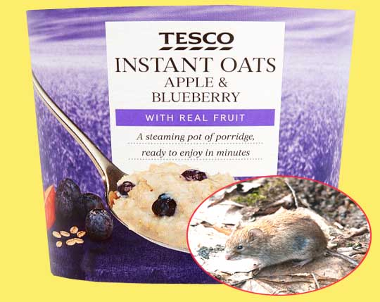 Tesco ridicules customer for thinking the vole in her oats was a mouse