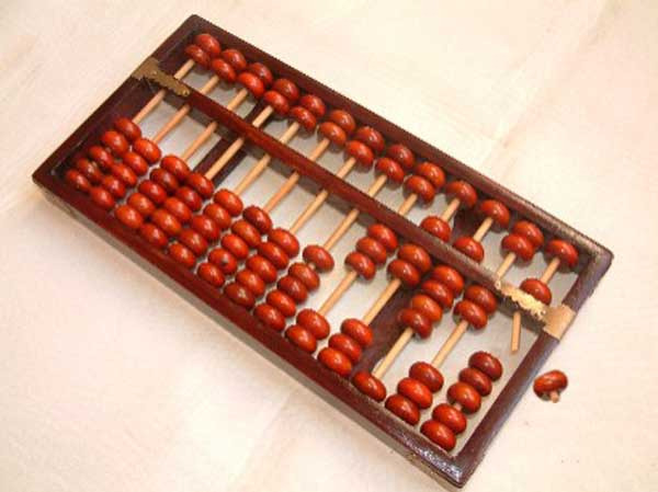 Abacus still works after 66 years in loft