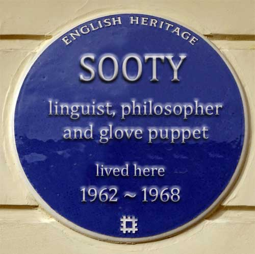 English Heritage approve Blue Plaque for Sooty's London home