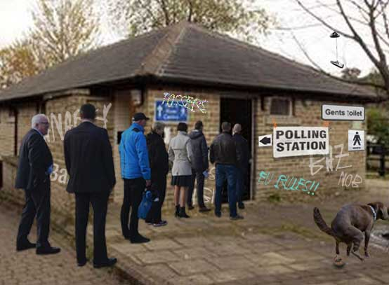 Village forced to use toilets as polling station after Scout hut burns down