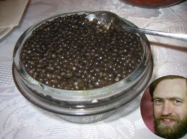 Corbyn: I took caviar but it was a mistake