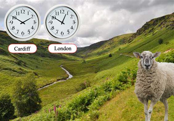 Wales to have its own time zone: DST (Daylight Shearing Time)