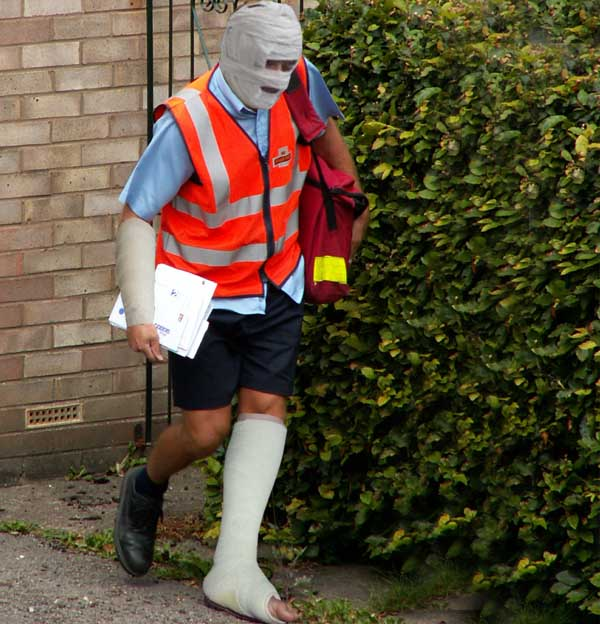 Postman attacked by pet budgie blames rise in on-line deliveries