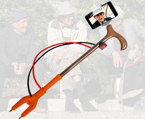 New self-defence selfie stick for 'active oldies'