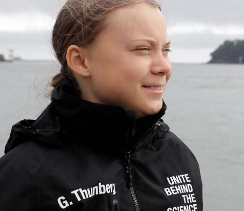 Greta Thunberg to walk home across sea from Chile