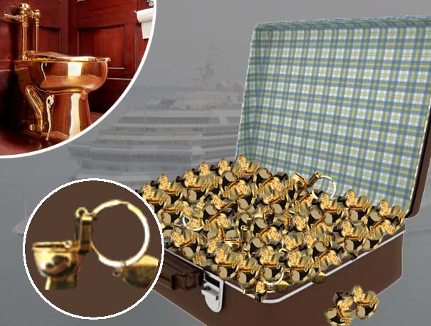 Pensioners caught smuggling 37,000 gold toilet key rings on cruise ship