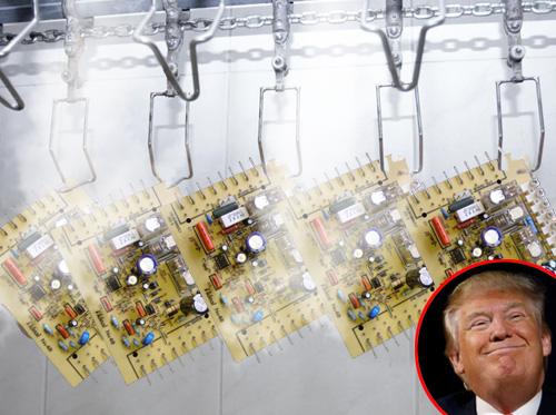 Trump tweets that 'all Huawei products must be clorinated!'