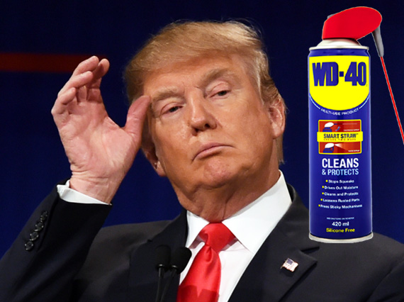 Trump reveals he gargles with WD-40 'for extra protection'