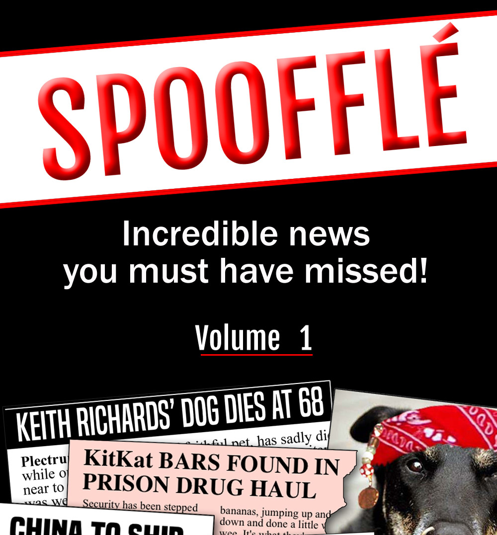 Our bumper Spoofflé eBook is out now on Amazon!
